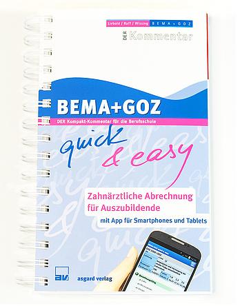 shop bema goz quick easy zahn rztliche abrechnung f r auszubildende buch app 3. Black Bedroom Furniture Sets. Home Design Ideas